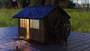 3D Hut Small House model