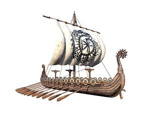 3D The Long Viking Ship