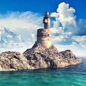 Old Lighthouse V-ray scene model