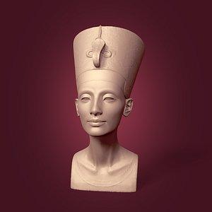 Restored Nefertiti Bust 3D model