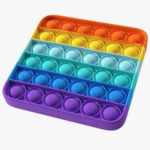 Square Pop It Fidget Toy 3D model