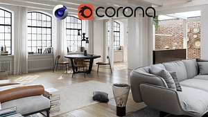 3D corona apartment model