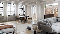 Workshop Apartment in London Cinema 4D and Corona Renderer