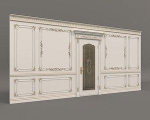 Classic Interior Wall Decoration 6 3D