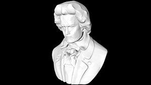 3D beethoven statue