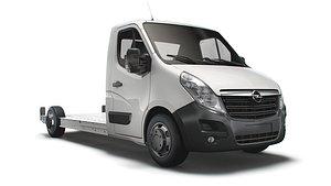 3D Opel Movano FWD LL35 L3H1 Platform Cab 2014 model