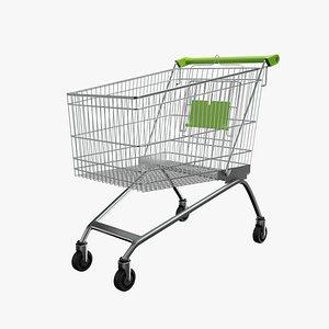 3D Shopping Cart Green model