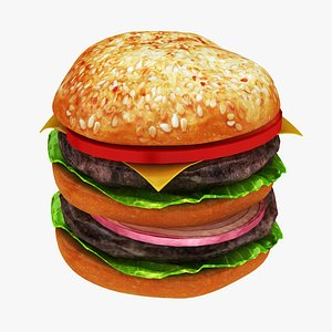 burger cheese double 3D model