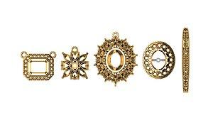 cad beautiful tops pendant 3D model