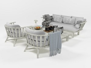 Outdoor furniture set 1004 3D