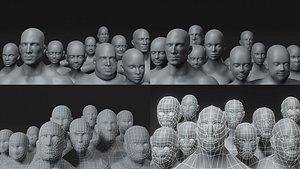 Human Body Base Mesh 40 Models Pack 3D model
