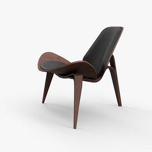 3D Howard Side Chairs walnut finish