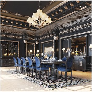 Royal Classic Dining Room Interior model