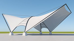 3D Tensile steel structure -2
