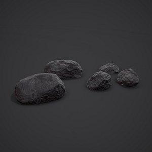 coal mineral 3D