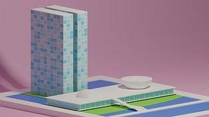 brazil brasilia brasil 3D model
