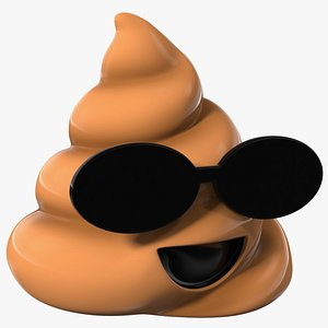Sunglasses Poop Emoji Smile model