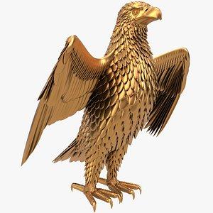 3D eagle bird animal