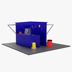 sales stand 3D model