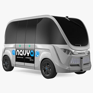 3D Autonomous Electric Vehicle Navya Arma Exterior Only model