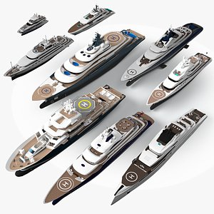 3D yacht lurssen fincantieri model