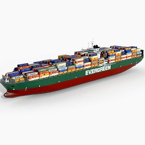 3D ship container model