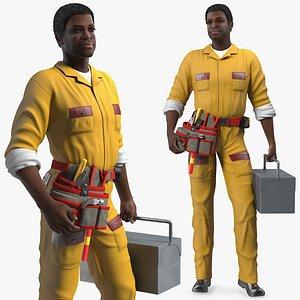 american locksmith standing pose 3D model