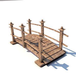Japanese Garden Bridge 3D model
