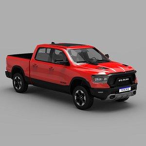 3D Ram 1500 Rebel 2020 model