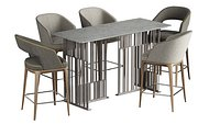 Pace Loom Chair Solo Table Bar