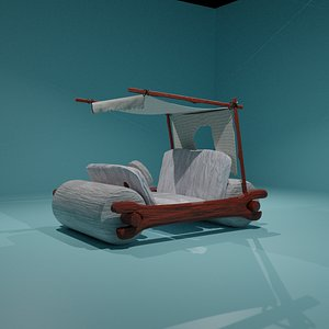 3D Flinstone Freid's car model
