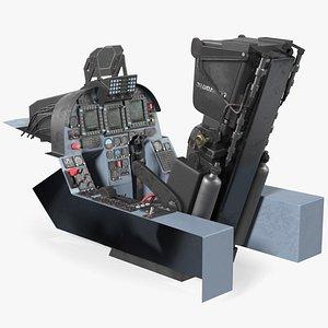 Chengdu J10 A Vigorous Dragon Cockpit 3D model