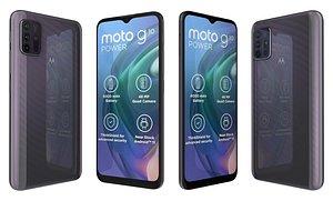 3D Motorola Moto G10 Power Aurora Grey