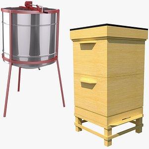extractor bee hive model