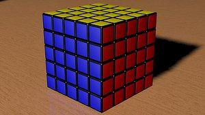 3D 5x5 Rubiks Cube model