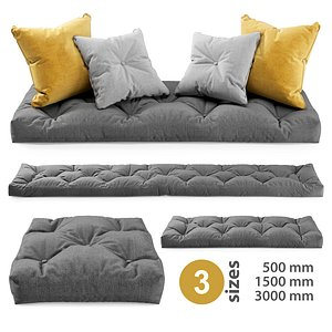 window seat cushions 3D model