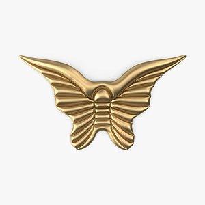 3D model Gold Angel Wings Pool Float