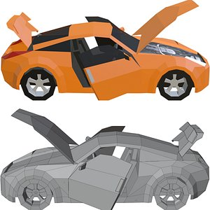 3D model nissan 350z