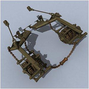 KMT-5M tank mine roller 3D model