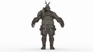 Action Figure armour model 3D