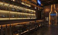 Punk style retro bar restaurant disco hall