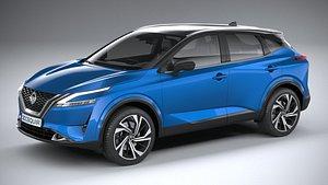 3D Nissan Qashqai 2022 model