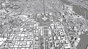 Cityscape Washington USA 3D model