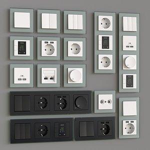 3D switch socket outlet