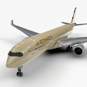 3D a350-900 etihad airways l1093