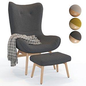 3D Armchair Crueso