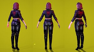 3D model High-quality Cyberpunk Character Low-poly