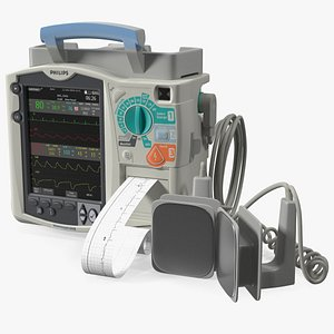 Philips HeartStart MRx Defibrillator with ECG Monitor 3D model
