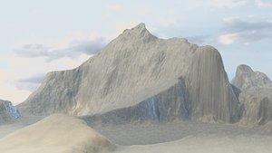 Mountains Terrain 1 3D model