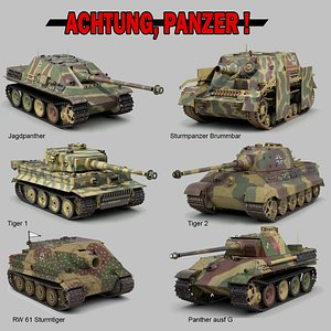ww2 german military vehicles 3D model